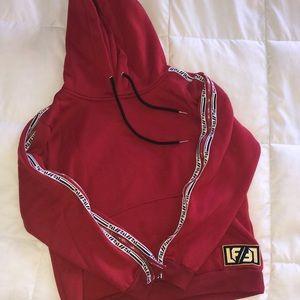 LF red hoodie